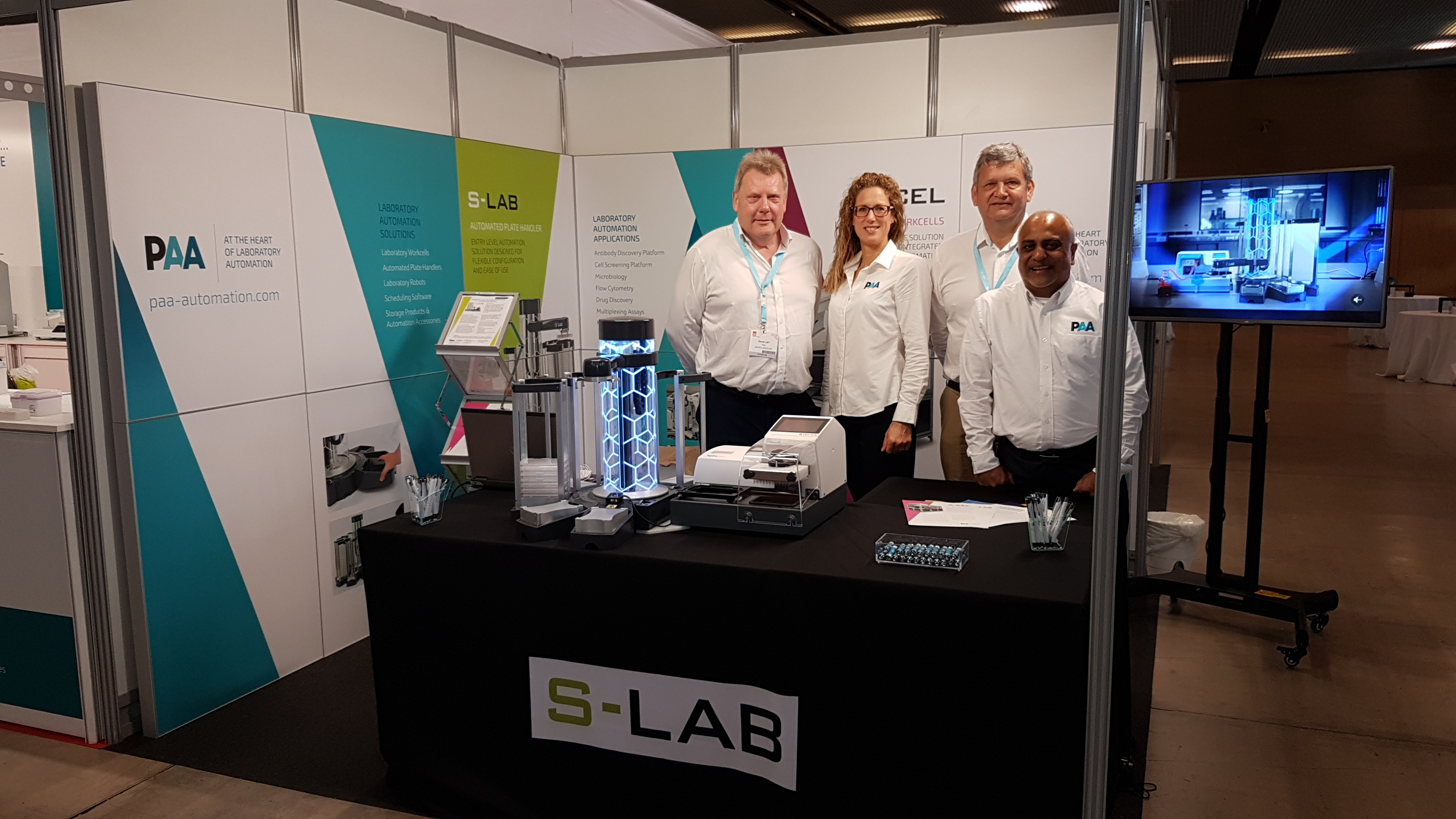 PAA booth at SLAS Europe 2019